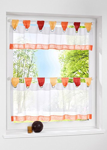 Uphome Stitching Color Window Curtain