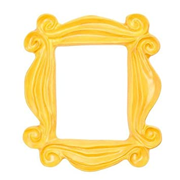 handmade yellow peephole frame as seen on monicas door on friends tv show