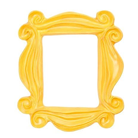 handmade yellow peephole frame as seen on monicas door on friends tv show - Yellow Picture Frames