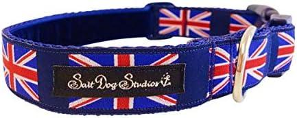 Salt Dog Studios Collar para Perro con diseño de la Bandera del Reino Unido: Amazon.es: Productos para mascotas