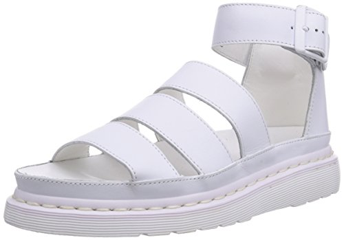 Dr. Martens Women's Clarissa Chunky Strap Casual Sandals, White Leather, 6 M UK, 8 M US by Dr. Martens