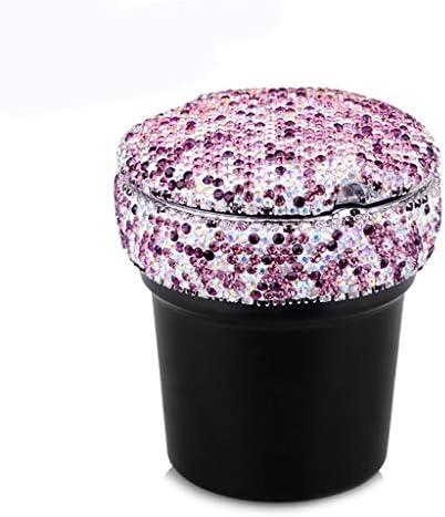 車の灰皿多機能夜光カーラインストーン灰皿 (Color : Purple)