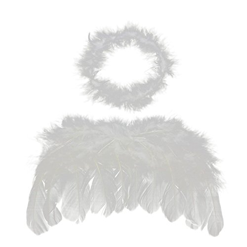0-6 mo Angel Feather Wings Baby Cupid Props Free Halo - 2