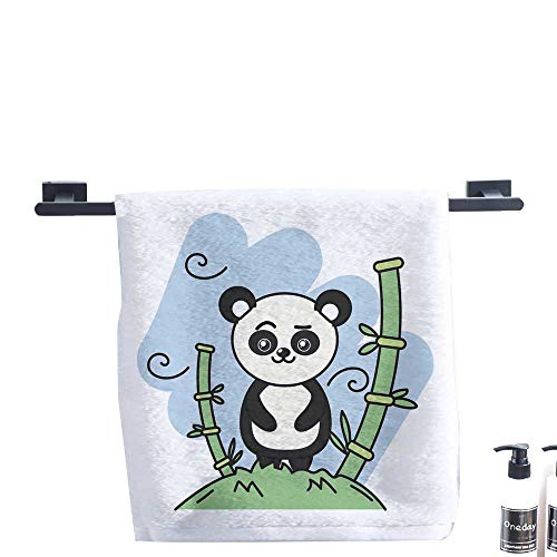 Mu Bamboo Dish Towel - Beach Towel,Cute Panda Bear Animal in The Mountain with Bamboo.,Luxury Towels Highly Absorbent Extra SoftMeasures 14 x 14 inch.