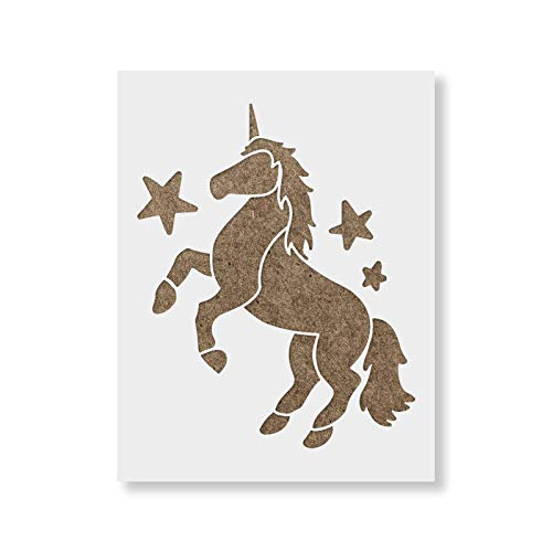 Unicorn Stencil Template - Reusable Stencil with Multiple Sizes Available (Stencil Paint Unicorn)