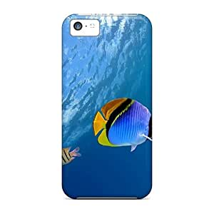 Brand New 5c Defender Case For Iphone (underwater Coral Scene)