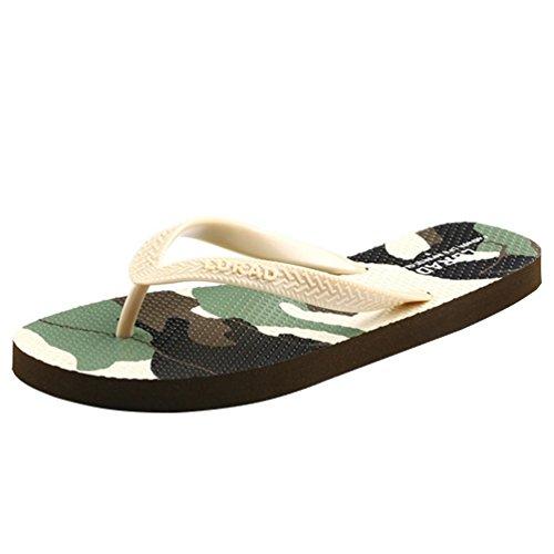 Baymate Unisex Adults' Camouflage Print Pool Beach Wear Sandals Flip Flops Women Beige Kn4l6rPrjc