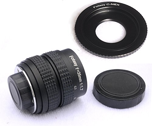 Fotasy N3517 35MM F1.7 TV Movie Lens and Adapter Kit for Sony NEX E-Mount Cameras from Fotasy