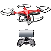Alluing Heartbeat x8 2.4G RC Quadcopter Electricity Adjustment 0.3MP HD Camera RC Drone FPV Gift (red)