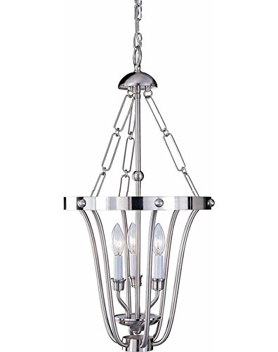 Volume Lighting V5073-33 Chandelier, Brushed Nickel Finish
