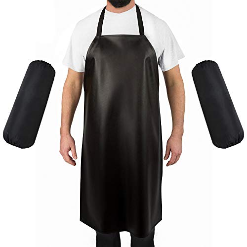 Lesuper Waterproof Aprons.Best for Staying Dry When Dishwashing, Lab Work, Butcher, Dog Grooming, Cleaning Fish, Projects -