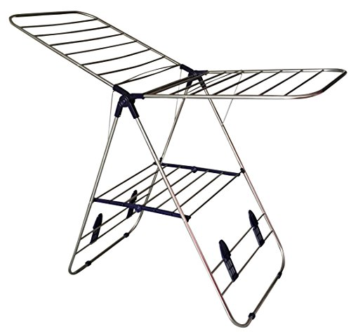 EWEI'S HomeWares Heavy Duty Stainless Steel Clothes Drying Rack, 58 L x 23.5 W -Inch