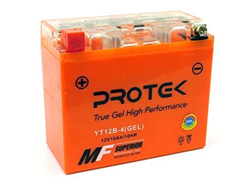 Protek YT12B YT12B-BS 12V 10Ah Sealed AGM Gel Type Battery Maintenance Free Factory Activated For Ducati 848 1098 1198 S R RTB SP EVO 998 999, Ducati Diavel Multistrada Monster 1200 1100 Hypermotard ()