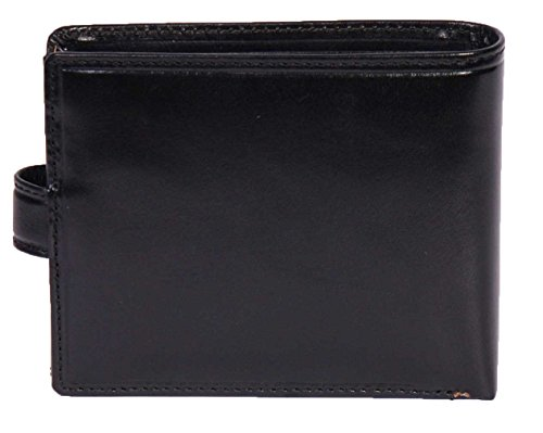 Leather Hamburg Cards Coins Black Luxury Leather Banknotes Of ID Wallet House Mens Bifold For wBfAx7qI