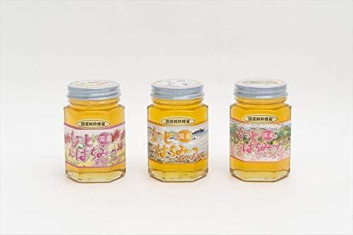 【国産純粋ハチミツ・養蜂園直送】れんげ蜂蜜 みかん蜂蜜 山ざくら蜂蜜 各180g