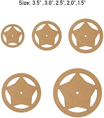 para manualidades de piel juego de herramientas de costura Hexagon Juego de 5 plantillas de acolchado acr/ílico transparente para manualidades regla de retazos y costura CUTOOP
