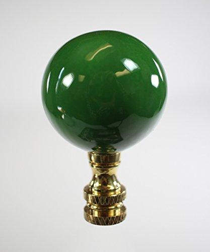 Hunter Green Ceramic Ball Finial 2.25'' h by Finial Showcase (Image #2)