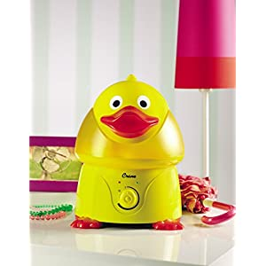 Crane USA Humidifiers - Duck Adorable Ultrasonic Cool Mist Humidifier - 1 Gallon Adjustable Mist Output, Automatic Shut-off, Whisper-Quiet Operation for Home Bedroom Office Kids & Baby Nursery