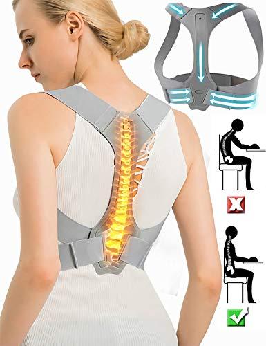 Posture Corrector Back Support Brace for Women & Men, Comfortable Ergonomic Design Back Straightener/Posture Trainer Device for Spinal Alignment, Kyphosis, Slouching & Hunching - L