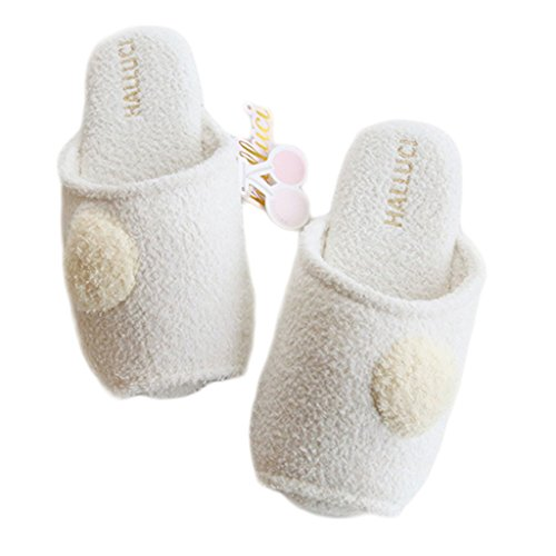 Fortuning's JDS Unisexo Adultos Pareja acogedor Lana Casa Calzado ovejas encantadoras Confortable Zapatillas ZFq7Q