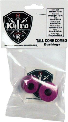 Khiro Tall Cone Combo Bushing Set 99a X-Hard Purple