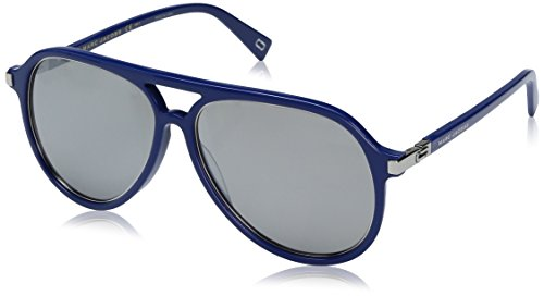 Marc Jacobs Men's Marc174s Aviator Sunglasses, BLUE/BLACK MIRROR, 58 mm