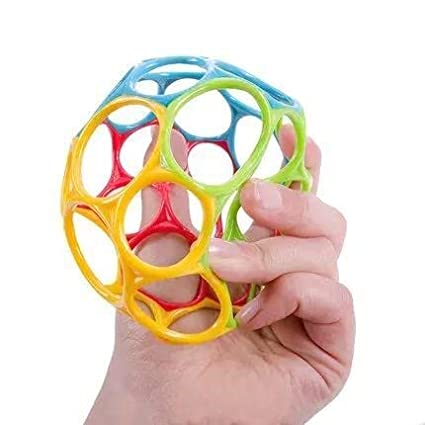 Multicolored Hand Catch Shaker Teether for 12 walaiji Baby Soft Toy Ball M