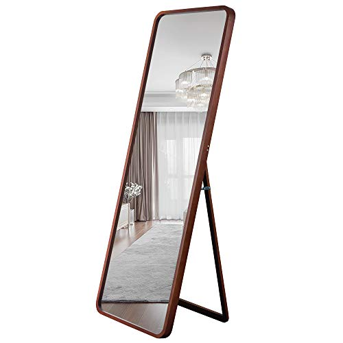 Leafmirror Floor Mirror Full Length Mirror Wooden Frame Free Standing Dressing Solid Wood Full Body Mirror 65