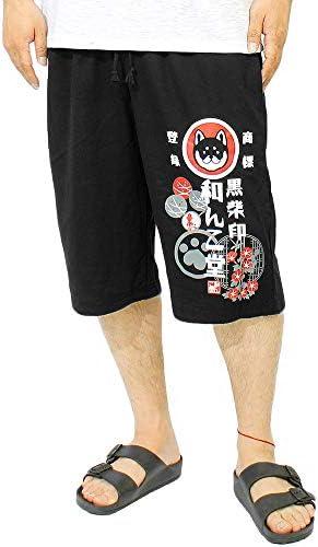 わんこ堂 ショートパンツ メンズ 大きいサイズ 裏毛 スウェット 京都発祥 ゆるキャラ 和んこ堂 ロゴ プリント ハーフパンツ