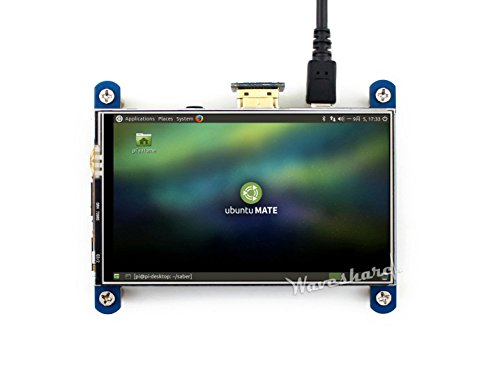 Waveshare 4inch HDMI LCD Resistive Touch Screen 800x480 High Resolution HDMI interface IPS Screen Designed for Raspberry Pi 3 B/2B/B +/B by Waveshare -LCD (Image #5)