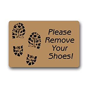 Please remove your shoes sign indoor outdoor doormat garden outdoor - Remove shoes doormat ...