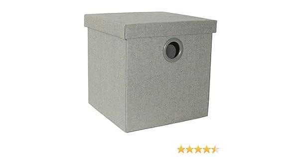 Caja de ordenación plegable con tapa, color gris (30x30x30 cm M ...