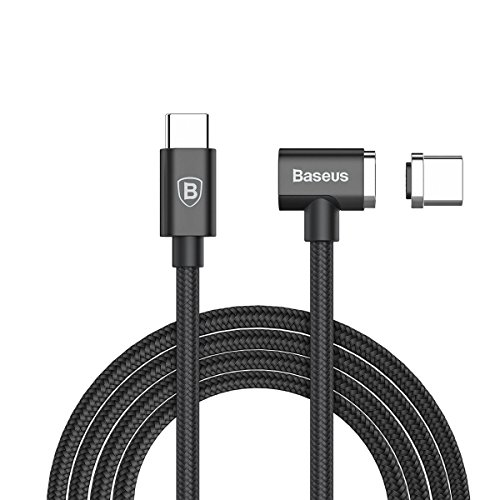 4.3A Magnetic USB C Charge Cable for Macbook Pro 2016/2017, USB C to USB C MagSafe Ultra Fast Charge Cable for Macbook and other USB-C Device(Charge Macbook from 1% to 100% within 90 minutes) (Black)