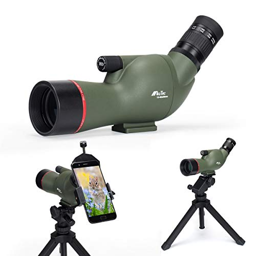 Gosky 13-40X50 Angled Spotting Scope- Waterproof Scope for Outdoor Bird Watching Animal Watching Target Shooting Hunting Scenery with Tripod and Digiscoping Adapter