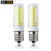 e17 bulb, All-New 102×2835SMD Dimmable E17 LED , 7W White 120v 75w Equivalent, Microwave Appliance Compatible Bulb (Pack of 2)