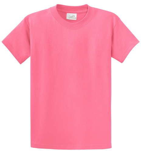 Joe's USA Heavyweight 6.1-ounce, 100% cotton T-Shirts in 50 Colors and Sizes S-6XL Candy Pink