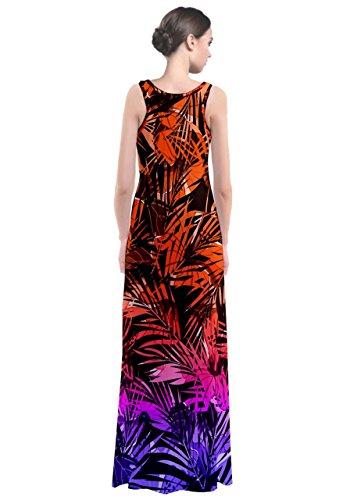CowCow - Vestido - para mujer Orange Purple