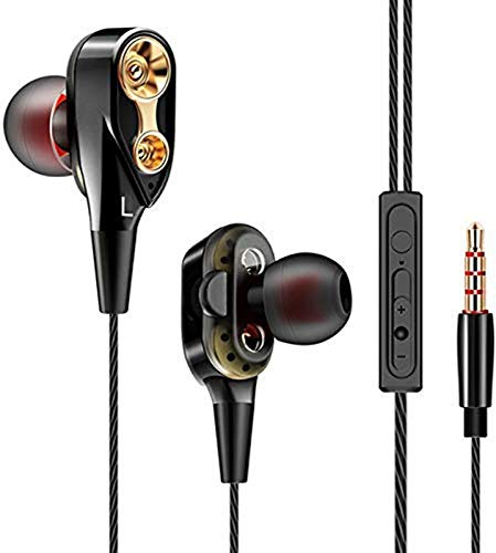 JIGAZO Best 4D in-Ear Earphone Stereo Sport Wired Headphone with 3.5mm for All Android/Device (Black)