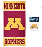 WinCraft NCAA University of Minnesota Gophers 30 x 60 inch Towel and 4 x 4 inch Perfect Cut Decal Set