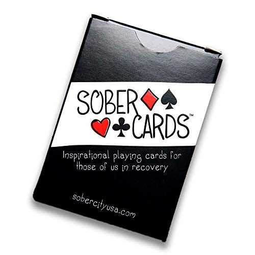 3 Pack Sober Cards – Decks of Playing Cards with Inspirational and Sobriety Quotes on The face of Each Card. Alcoholics Anonymous Gifts and Sobriety Gifts. 48 Different AA Slogans in Each Deck