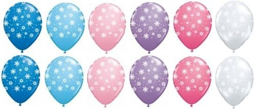 LoonBalloon SNOWFLAKE FROZEN Pink Blue Purple Clear Snow Flake (12) 11