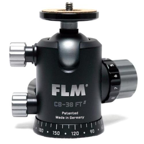 FLM CB-38FTR Professional 1.5'' Ball Head with Friction / Tilt, 55.11 lbs Load Capacity by FLM