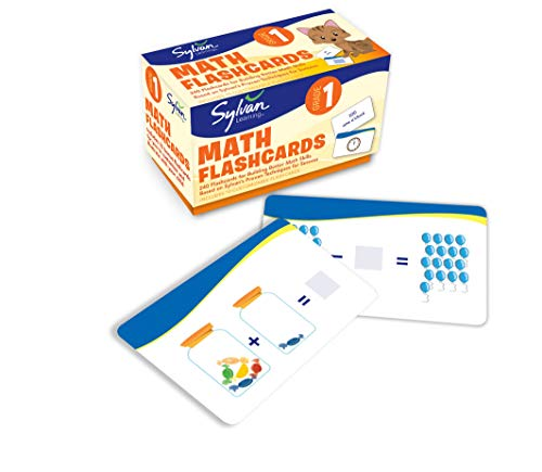 1st Grade Math Flashcards: 240 Flashcards for Building Better Math Skills Based on Sylvan's Proven Techniques for Success (Sylvan Math Flashcards)
