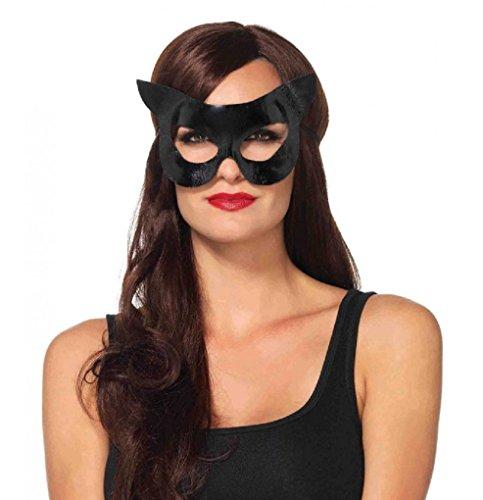 Adult Size Black Vinyl cat mask - Bastet - Cat Woman -