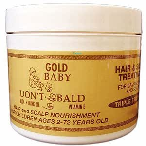 Amazon BABY DON T BE BALD Gold Hair and Scalp
