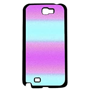 Pink and Teal Stripe Hard Snap on Case (Galaxy Note 2 II)