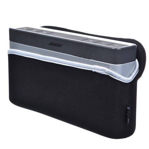 Cosmos black color soft neoprene carrying travel sleeve for Housse bose soundlink 3