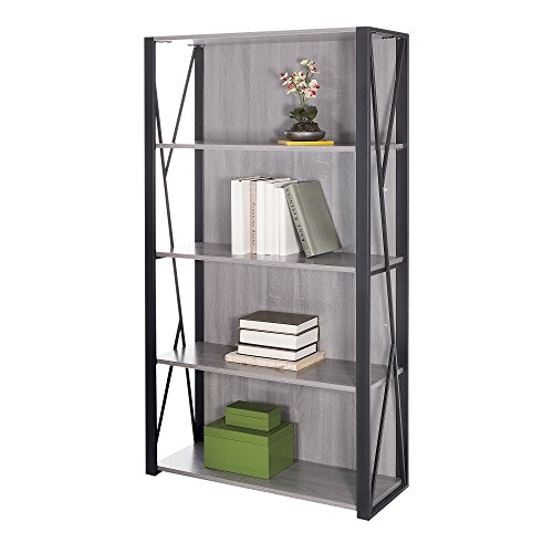 (Safco Products 1903GR Mood Bookcase, Gray)