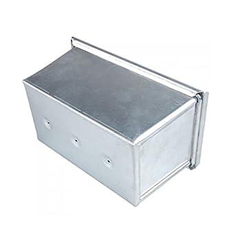 Kingstons - Caja rectangular de aluminio para hornear pan de molde, con tapa