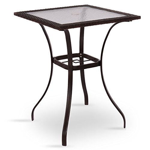 Lighted Outdoor Stool Table - 5